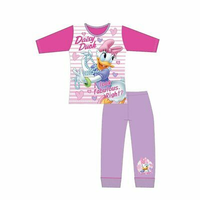 Girls Minnie Mouse Pyjamas 4 to 10 Years Long Sleeve Nightwear PJs Cotton