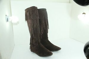 e5992296ee5815 SAM EDELMAN UTAH SIZE 7.5 BROWNS FRINGE IN GREAT CONDITION