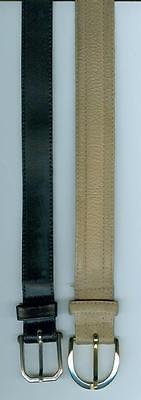 2 Gürtel Ledergürtel Schwarz Und Braun Gr. 90 Cm
