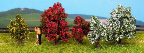 * Noch scala N 25420 5 Alberi fioriti altezza 5 cm. Nuovi OVP
