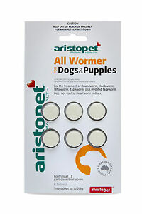 Aristopet-All-Wormer-for-Dogs-amp-Puppies-6pk-Dog-Worming-Tablets-Australian-Made