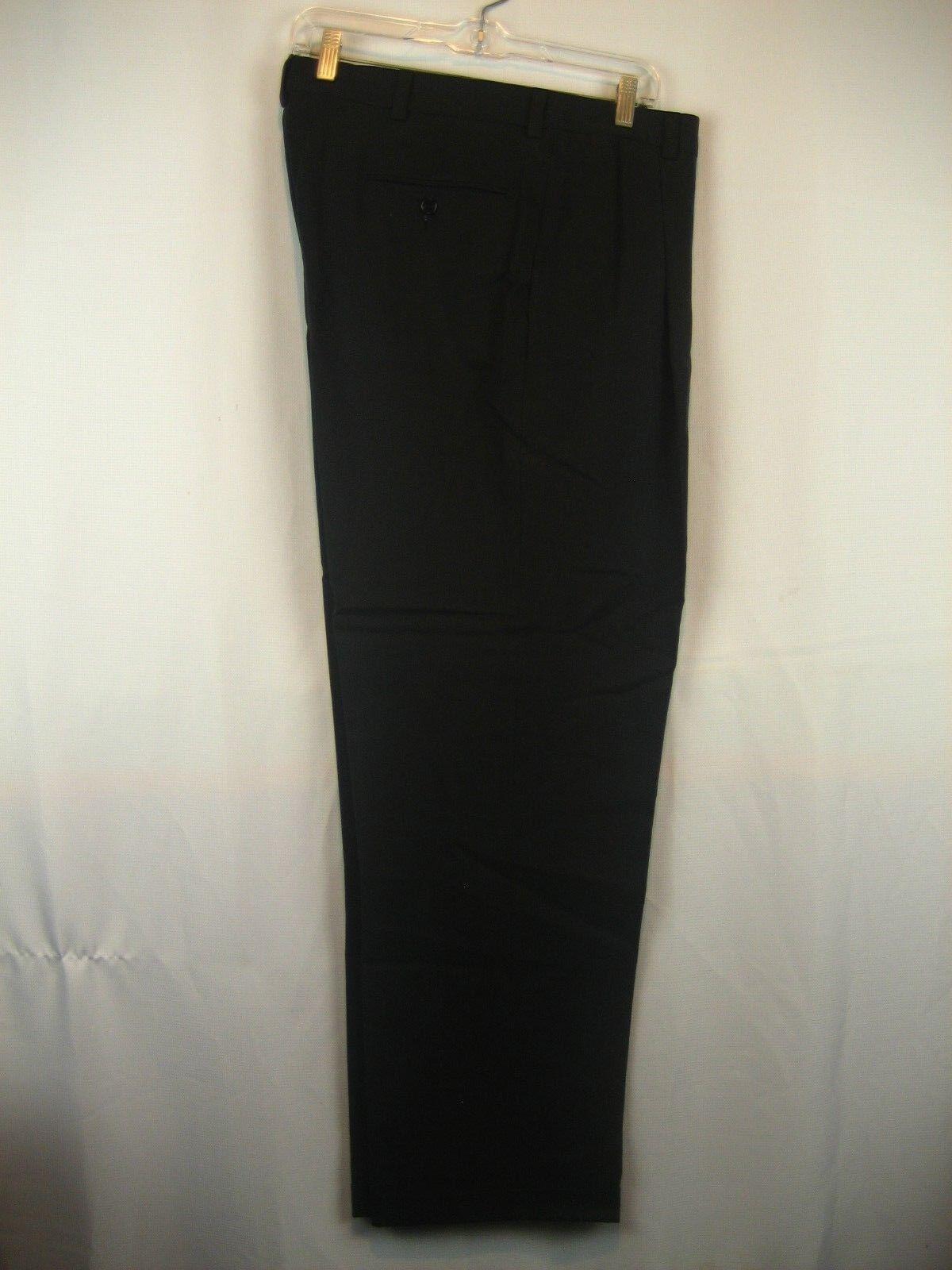 Mens NWOT Charleston Khakis Navy Wool Herringbone Pleated Dress Pants sz 36x31