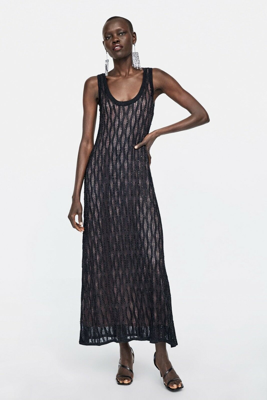 ZARA AW2018 19 LIMITED EDITION SEQUIN BEADED DRESS Größe S BLOGGERS SOLD OUT