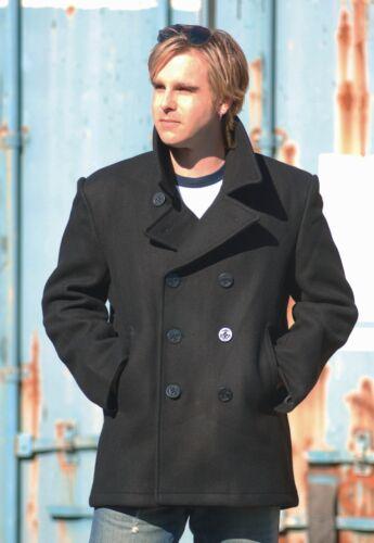 Navy Pea Coat schwarz US Marine Mantel Colani