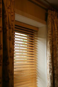 Details About 25mm Real Wood Venetian Blinds Up To W240cm X D240cm 6 Colours Child Safe