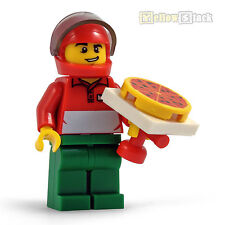 LEGO® Figur Mann mit Pizza roter Helm Lieferservice delivery man cty573