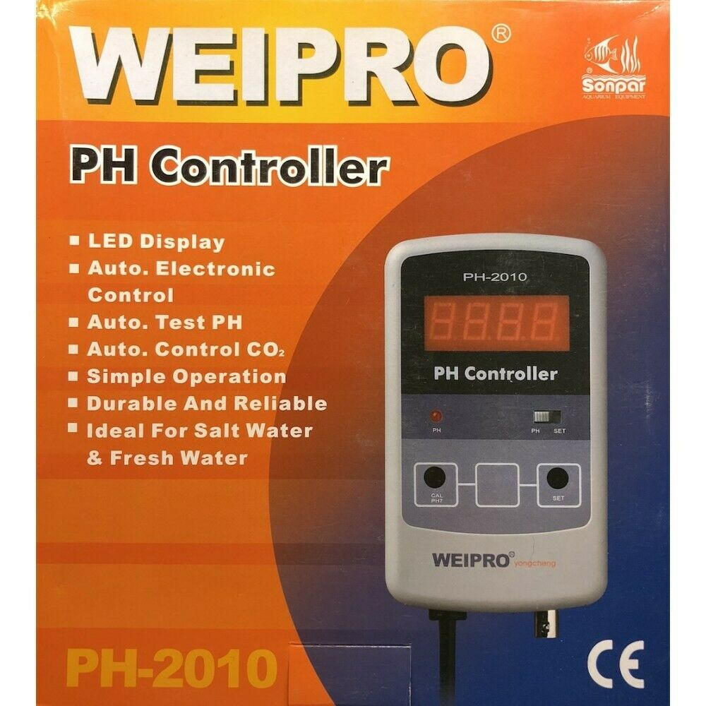 Ph-Meter und Regler Weipro PH2010. Ideal für Calcium Reactor. UK Stecker und UK