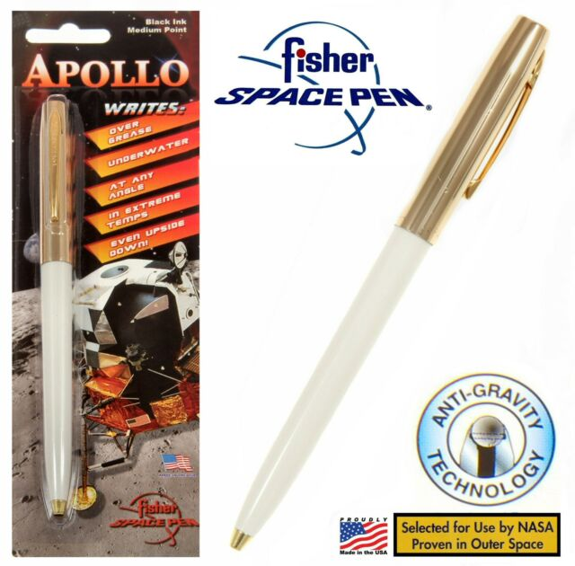 Fisher Space Pen #S251G-White Apollo Series Pen in Gold & White