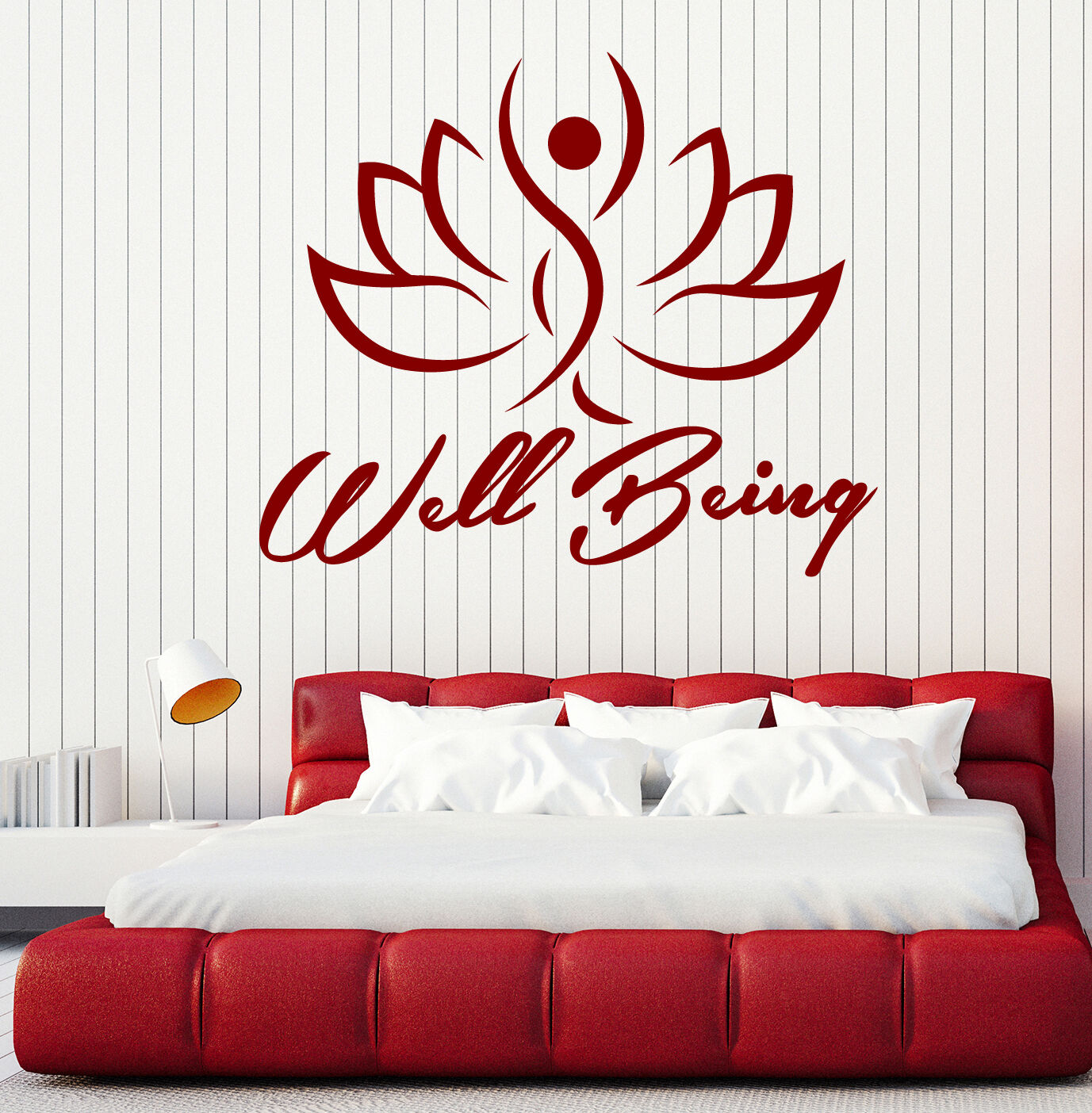Wall Vinyl Decal Image Man Inside a Lotus Well Being Home Decor z4826