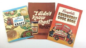 Kraft-40-Famous-Menus-and-Campbells-Cook-Book-3-Vintage-Recipe-Booklets-P993