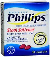 2 Pack - Phillips' Stool Softener Liquid Gels 30 Liquid Gels Each on sale