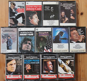 13x JOHNNY CASH CASSETTE TAPES - VG+ CONDITION - JOB LOT BUNDLE COUNTRY UK USA