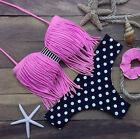 Bikini costume push up due pezzi nappa moda mare donna 6004 Fuxia