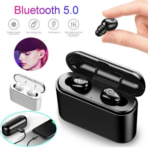 Wireless Bluetooth 5.0 Headphones TWS Headset Earphone 5D Stereo IOS Android New
