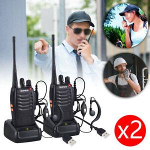 2PCS-Baofeng-Walkie-Talkie-2-Vie-Radio-BF-888S-UHF400-470MHZ-5W-16CH-lungo-Serie