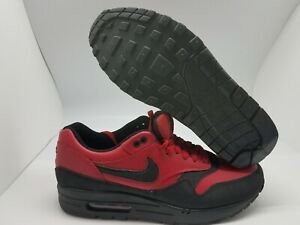 Details about Nike Air Max 1 LTR Leather Premium Gym Red Black 705282 600.