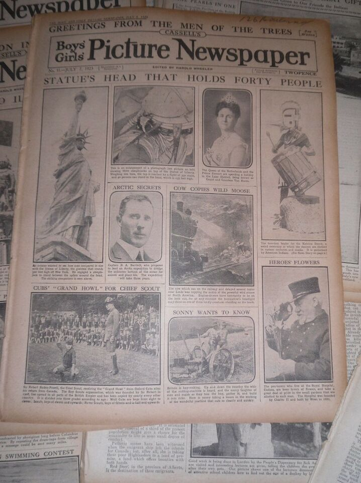 Boys and Girls Picture Newspaper, Harold Wheeler, emne:
