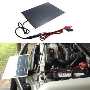 5 5w solar panel w batterie clip f r 12v auto camping. Black Bedroom Furniture Sets. Home Design Ideas