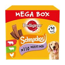 110 Pedigree Schmackos Dog Treats Mixed Meat Variety Mega Box Dog chews 790g