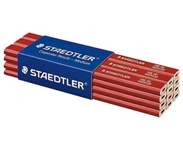 STAEDTLER 148 40 Medium Carpenters Pencil Pack of 12 2H