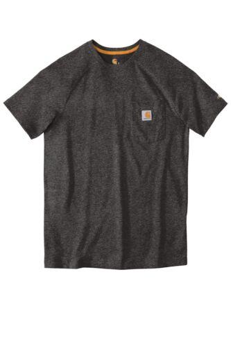 Work Wear T Pocket Tee 100410 Carhartt Men/'s Force Cotton T-shirt