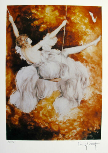 """LOUIS ICART /""""SWING/"""" Signed Limited Edition Small Giclee Art"""