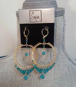 Sequin-New-York-Gold-Plated-Chandelier-Earrings