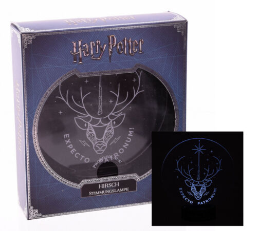 24cm Hogwarts Hirsch MACUSA Stimmungslicht Lampe Harry Potter Stimmungslampe