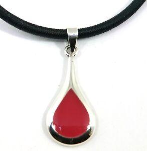 Achat Anhänger Rot oder Onyx Schwarz Tropfen 925 Sterling Silber Neu