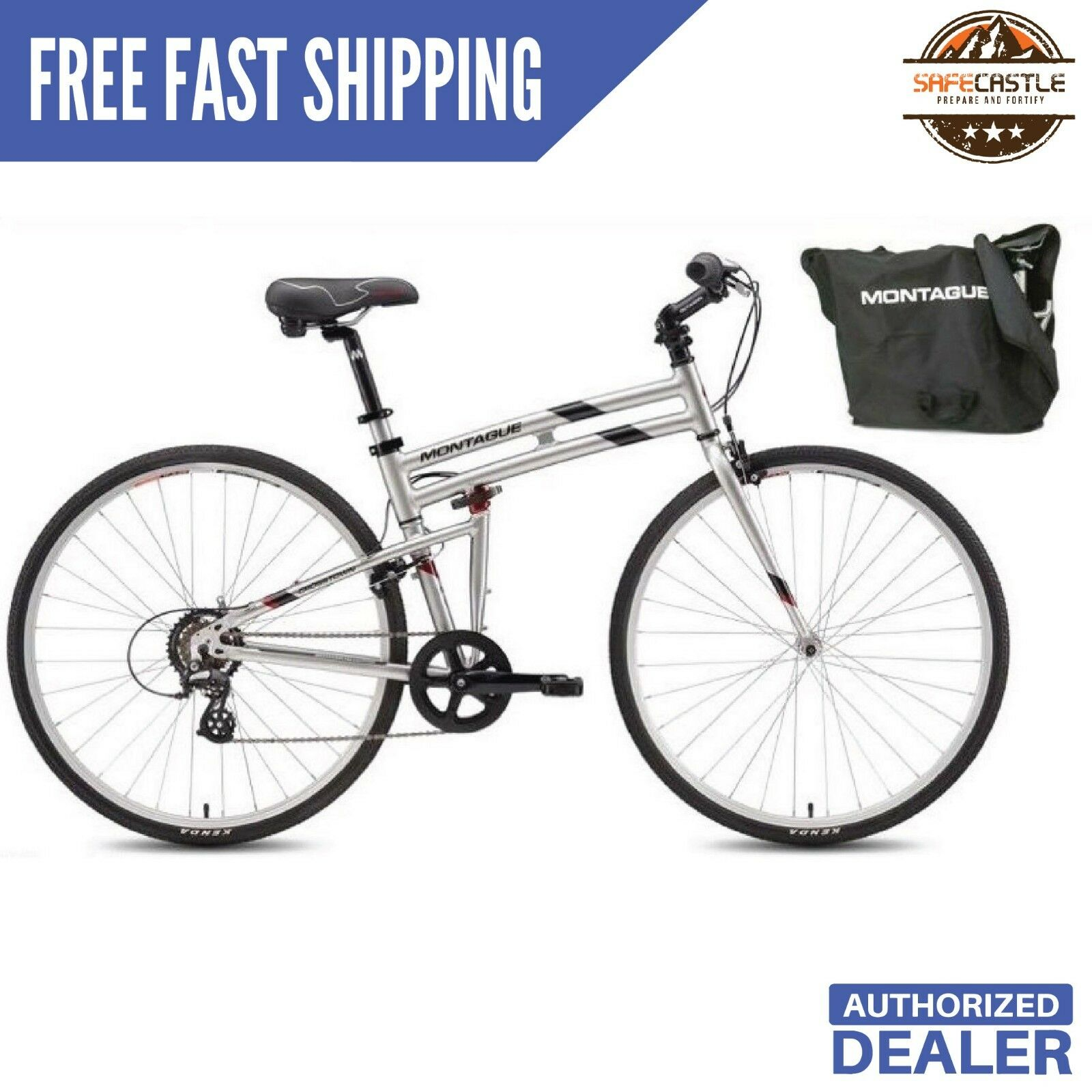 New 2019-Montague Folding Bike  Crosstown 17  700cc Bicycle , Free Shipping