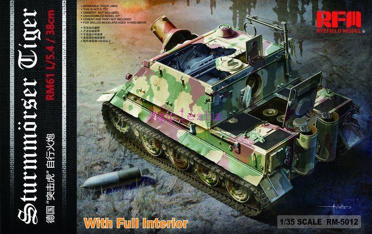 Ryefield-Model 5012 1 35 Sd.Kfz.181 Sturmmorser tiger w Full Interior
