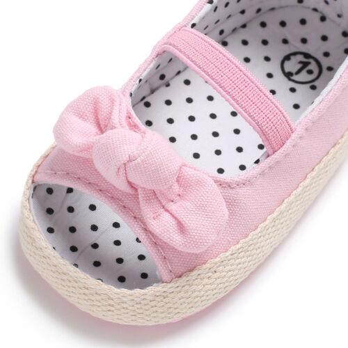 Semelle Souple Fille Bébé Crib Shoes Infant Toddler Été Sandales talons nouveau-né à 18 mois