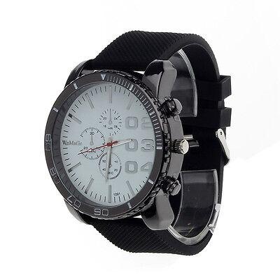 """Luxury Men""""s Watches Sport Analog Quartz Mens Stainless Case Steel Wrist Watch"""