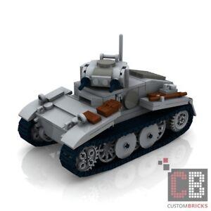 custom pdf instructions ww2 wwii panzer 1 tank for lego bricks ebay