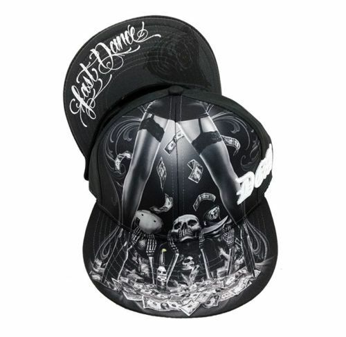 David Gonzales Beer Art DGA Last Dance Beer Gonzales Money Cash Tattoo Goth Snapback Hat Cap 8c178c