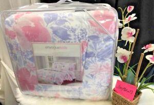 NEW-Envogue-Kids-Floral-UNICORNS-Pink-Purple-Twin-Size-Comforter-5-Pc-SET