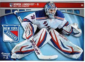 2014 Fathead Lundqvist Nhl Tradeables 10 New York Rangers 5x7 Wall