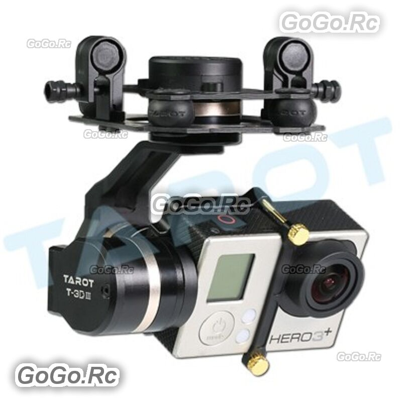 Tared 3-Axis Brushless Gimbal PTZ for Gopro Hero 3 3+ 4 FPV Drone TL3T01