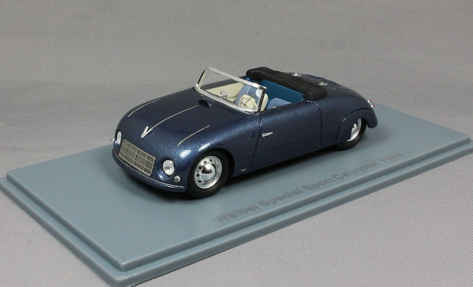 Neo Waibel Special Sport Cabriolet in bluee 1948 46191 46191 46191 not Porsche 356 1 43 NEW c3726b