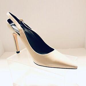 Zara Genuine CONTRAST HIGH HEEL SHOES BNWT 9 US NUDE 💗💗 | eBay