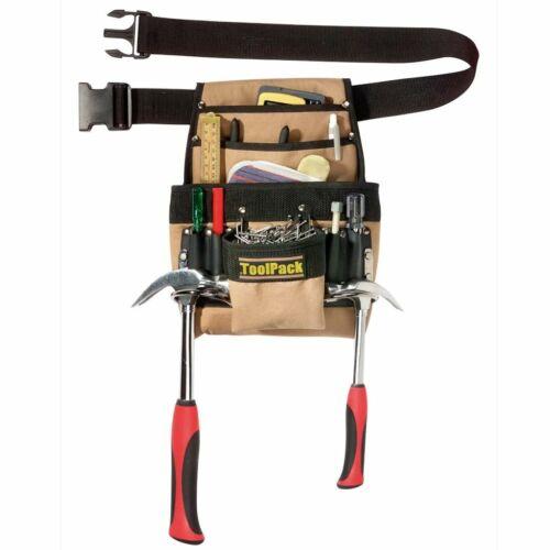 Toolpack Ceinture Porte-outils double anneau 360.055 10 possibilités de stockage