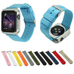 half off 6952a a1a31 Details about Sport Nylon Fabric Strap Waterproof Belt for iWatch Series 3  2 Apple Watch Band