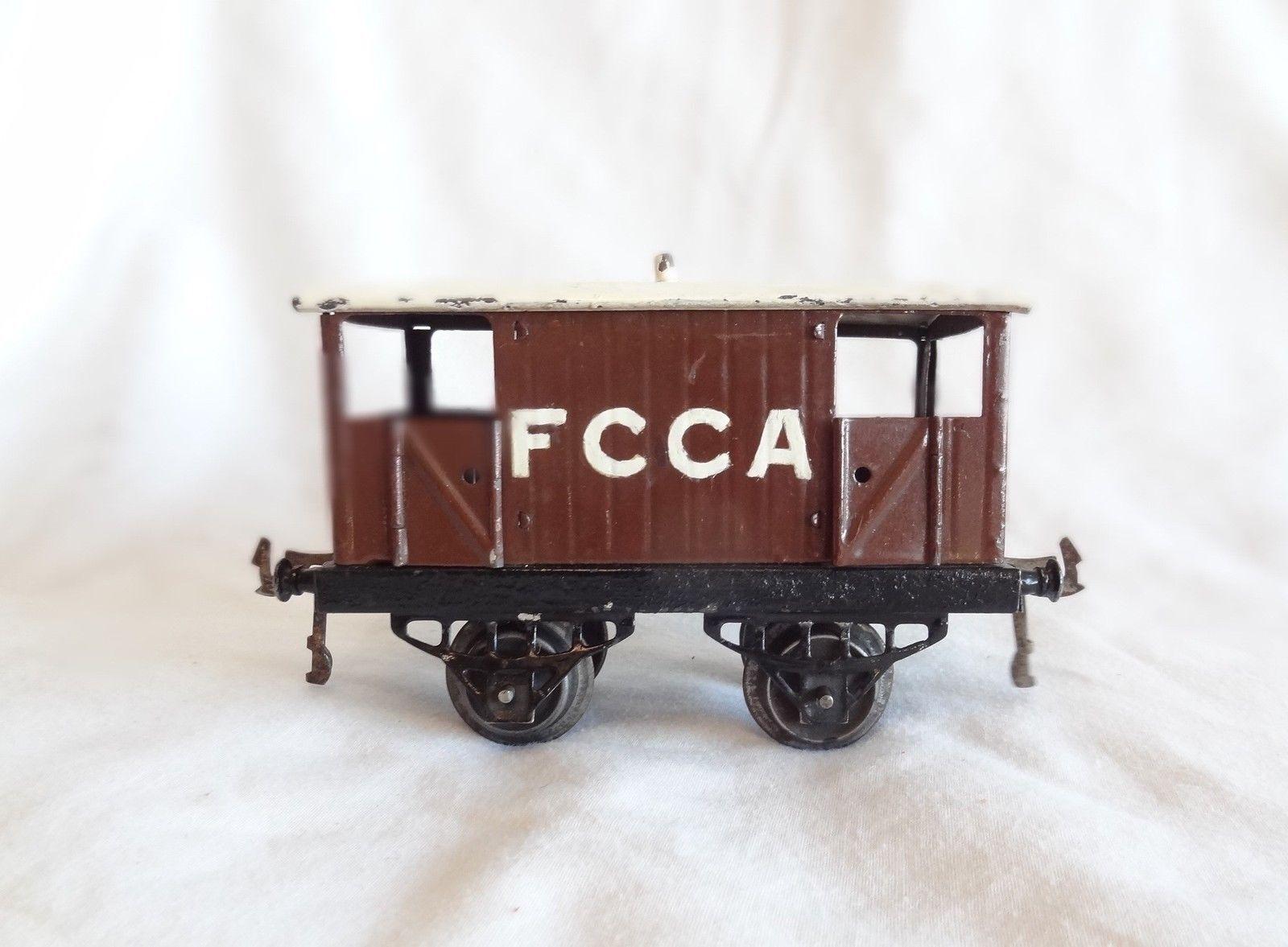 027C  Vintage Pre-War Hornby Export silverina O Gauge FCCA Brake Van
