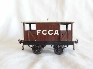027c : Vintage Avant-guerre Hornby Export Argentine O Calibre Fcca Frein Van