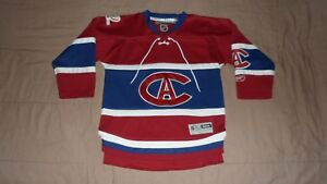 Montreal Canadiens Ca Red Centennial Reebok Youth Size S M Nhl Hockey Jersey Ebay