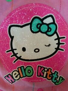 Hello-Kitty-T-Shirt-Precious-Pink-Glitter-amp-Sparkle-Sizes-2T-3T-4T-5T-ADORABLE