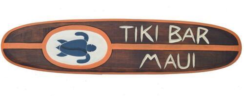 Tiki Bar Deko Surfboard aus Holz Surfbrett in 100cm Hawaii Maui Style