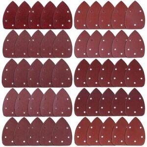 50-Pieces-Souris-Detail-Ponceuse-Papier-de-verre-Papier-de-poncage-Crochet-E9N9