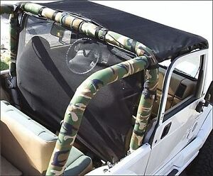 1997 2002 Jeep Wrangler Sport Bar Cover Roll Cage Pad Kit
