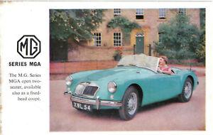 MG-MGA-1500-Original-Factory-Issued-Postcard-No-Publication-No-Reg-No-XWL54